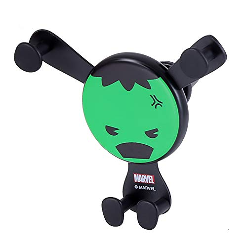 """MINISO Marvel Car Phone Mount Air Vent Cell Smartphone Holder Fit 4'-6.5"""" Device Easy Clamp Cradle Compatible with iPhone X/8/7/Plus/6S/5S Samsung Galaxy S9/S8/S7/S6/S5 Google Pixel LG Huawei-Hulk"""
