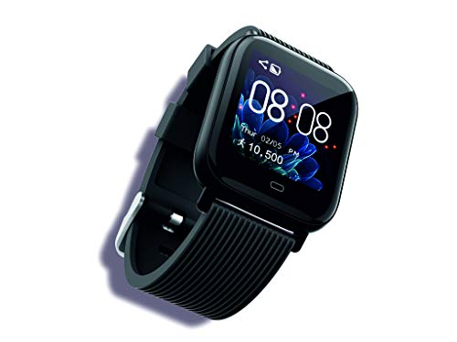 GIZMORE GizFit 902 Bluetooth SmartWatch- Black (Upto 7 Days Battery Life_Wireless_IP67)