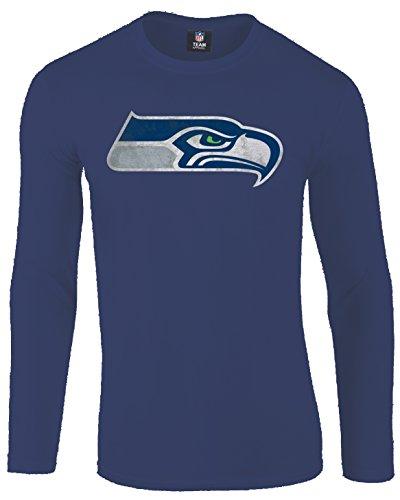 Majestic NFL Seattle Seahawks Langarm Longsleeve Shirt Football Hyper Domestic (L)