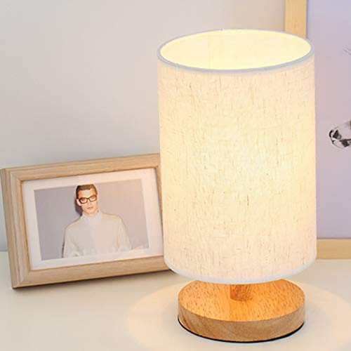 Bedside Lamp Night Light Warm White Gift Wood Table lamp, Home & Garden LED Light