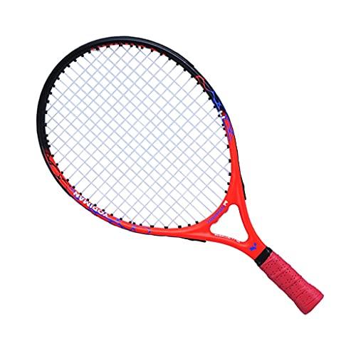Raquetas De Tenis para Niños Tenis para Principiantes Tenis Individual Cuerda Tenis All Carbon One 19 21 23 25 Pulgadas (Color : Red, Size : 23inches)
