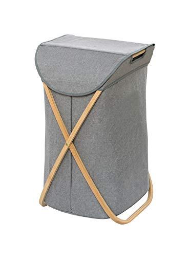 Wenko 62211100 - Cesto para la colada (79 L, bambú, 40 x 68 x 46 cm), color marrón