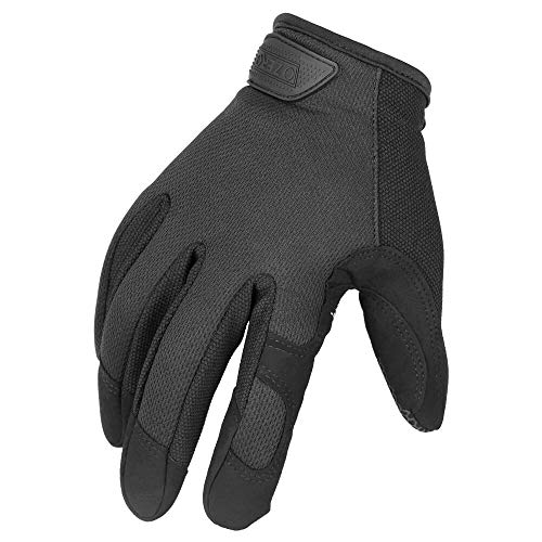 Work Gloves with Touch Screen FingerTips - Improved Dexterity and Extra Grip for Men and Women (Black,Large)