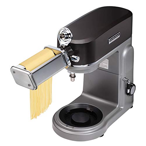 HAMILTON BEACH PROFESSIONAL 63246 Stand Mixer Specialty Attachment - Pasta Roller and Cutter Set, STAINLESS STEEL