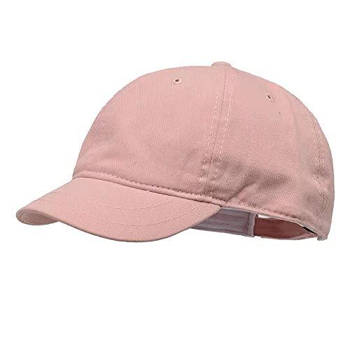 Clape Men Women Plain Cotton Low Profile Short Bill Baseball Cap Hat Pink