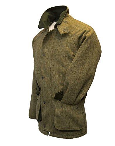Walker and Hawkes Herren Country-Jacke aus Tweed - für die Jagd geeignet - Helles Salbeigrün - Größen XXS bis 5XL