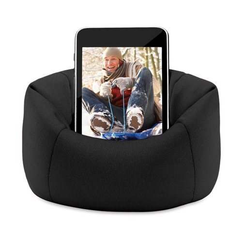 eBuyGB Sitzsack Sofa Pouch Fall für iPhone/iPod/Samsung Smartphone–Schwarz