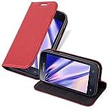 Cadorabo Coque pour Samsung Galaxy Trend Lite en Rouge DE Pomme – Housse Protection avec Fermoire Magnétique, Stand Horizontal et Fente Carte – Portefeuille Etui Poche Folio Case Cover