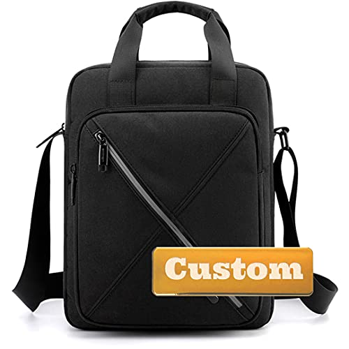 JDQS Personalizado Nombre Personalizado Viaje Mensajero Crossbody Bag Canvas Travel Crossbody Strap Bag Bolsa (Color : Black, Size : One Size)