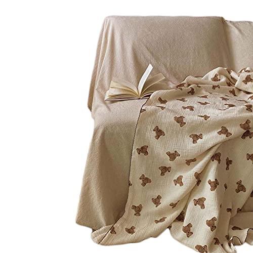 Mantas Bebé, Gasa de Algodon, Manta para Envolver, Envoltura de Pañales Funda para Cochecito Dormir Recibiendo Mantas Toalla De Baño Multiuso (110x110cm (con encaje))