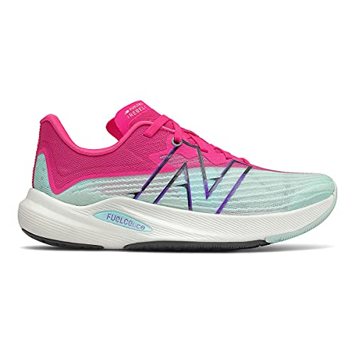 Contemporary Balance Girls folks's Running Shoes, FuelCell Riot v2, Pale Blue Kick again/Red Glo (Pale Blue CHILL/Red GLO, Numeric_8) thumbnail