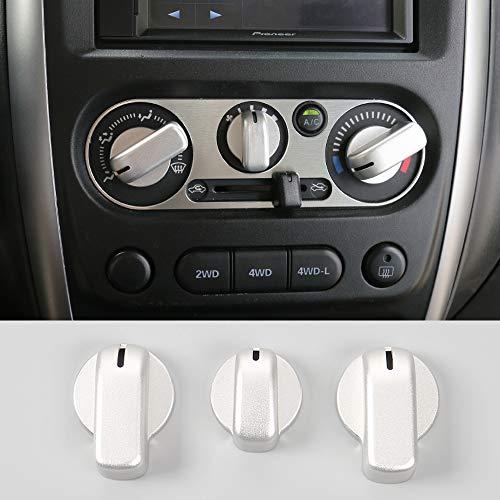 Jimny cubierta de interruptor de aire acondicionado interior de coche de aleación de aluminio, 3 piezas para Jimny 2007-2017
