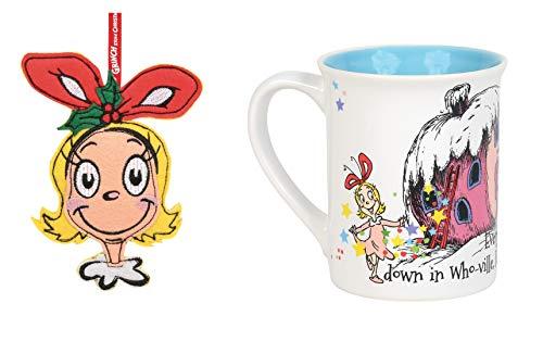 Cindy Lou Who How The Grinch Stole Christmas Kaffeetasse und Cindy Lou Ornament, 2 Stück