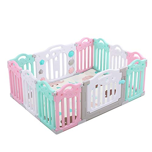 Best Price CHULQY Baby Fence Child Safety Door Playground Guardrail Detachable Game Room Baby Room w...