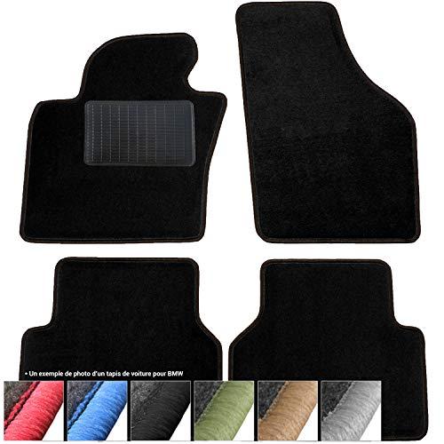 moto-MOLTICO Tapis de Voiture en Moquette - 4 pièces - Tapis de Sol antidérapant pour Automobile - Adapte pour: BMW 2er F45 X1 F48 2014- - Noir