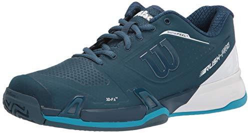 WILSON Men's Rush PRO 2.5 Tennis Shoe, Majolica Blue/White/Barrier Reef, 12