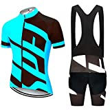 Ciclismo Jersey Set Bicycle Ropa MTB Ropa Sportswear Traje (Color : Gold, Size : 4X-large)