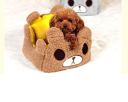 Kennelcute Cartoon Beer Hond Kat Huisdier Slaapbank Huis Zachte Bont Warme Hondenmand Kennel Nest Hond Kussen Kussen Matras 70 * 55 * 22