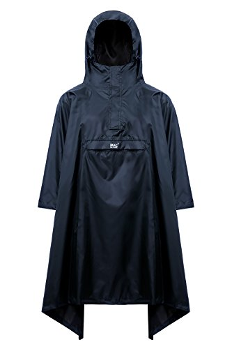 Mac in a Sac Origen Unisex Impermeable Packaway Poncho (Marina de Guerra, One Size)