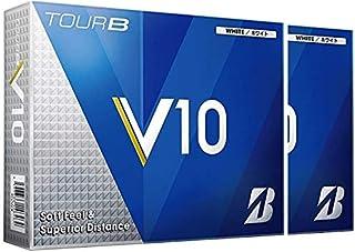 【2ダースセット】ブリヂストン TOUR B V10 ボール TOUR B V10 ボール 2ダース(24個入り) ホワイト