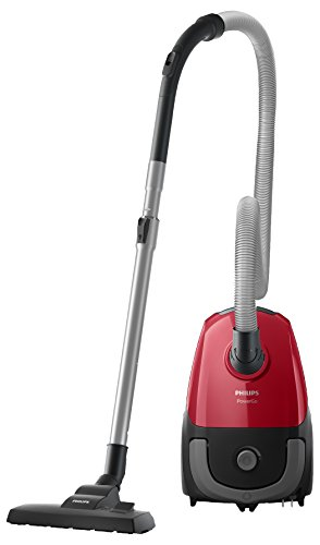 Philips FC8243/09 PowerGo kompakter (Bodenstaubsauger, 900 W, AAA-Energie-Label, Allergiefilter) rot