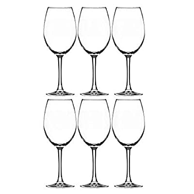 Element Drinkware Stemmed Wine Glass 16 Ounce | Crystal Clear Classic Design - Perfect for Red Wines & White Wines at Your Next Elegant Dinner Party or Event - Elongated Bowl Design Snifter - 6 Packs