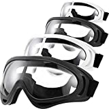 <span class='highlight'><span class='highlight'>Frienda</span></span> 4 Pairs Protective Goggles Safety Glasses Eyewear for Teens Game Battle Hiking and Sand Prevention (Black, White)