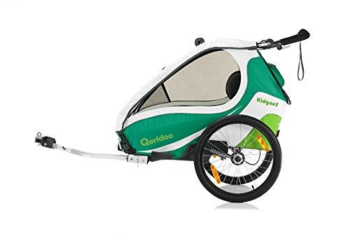 Qeridoo Verdeck Oberteil für Fahrradanhänger 2017 - KidGoo2, Farbe:green