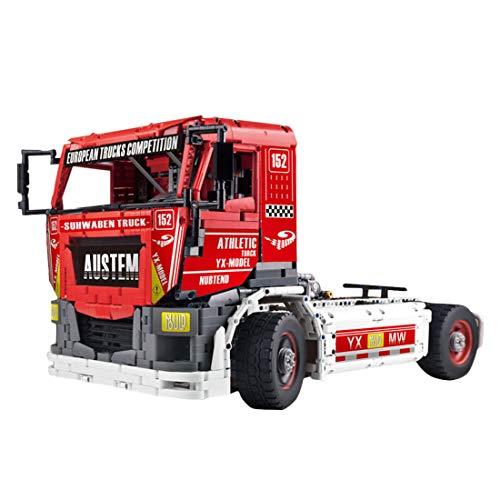 12che Technik Lastwagen Baustein Modell Kompatibel mit Lego 2638 + St DIY Fernbedienung 4CH Schwer LKW Baukasten