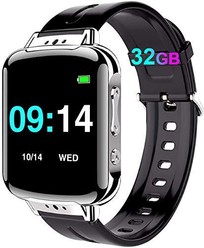 32GB Mini Diktiergerät Armband, Mini Aufnahmegerät mit Stimmenaktivierung - 384 Stunden|One-Touch-Aufnahme|MP3|Passwort|Schrittzähler Abhörgeräte Voice Recorder für Vorlesung, Meeting