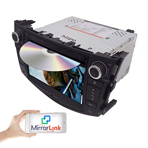 Hizpo Car in Dash Autoradio for Toyota RAV4 2006 2007 2008 2009 2010 2011 2012 7 inch Monitor DVD-speler GPS Navigatie Stereo Bluetooth SWC Subwoofer Reverse Cam-in