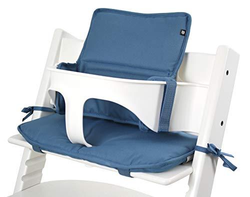 Tinydo® Hochstuhl-Sitzkissen Dunkelblau - optimales Zubehör für Stokke Tripp Trapp - Sitzverkleinerer-Kissen mit XXL Dämpfung ohne Verrutschen (Dunkelblau)