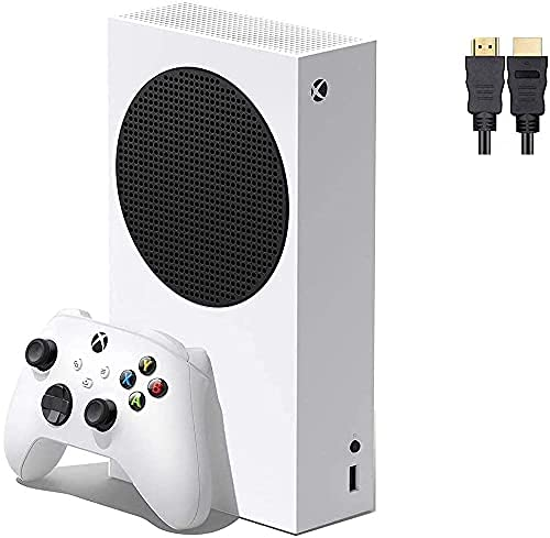 2021 Latest Microsoft Xbox Series S 512GB Game All-Digital Console + One Xbox Wireless Controller, 1440p Gaming Resolution, WiFi, White, LPT High Speed HDMI Cable