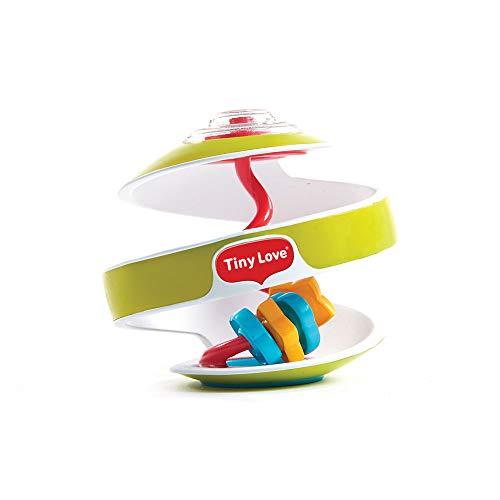 Tiny Love gioco per bambini interattivo a forma di palla con spirale, facile da afferrare, colore verde