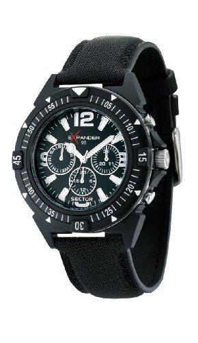 Sector Herren-Armbanduhr Expander 90 Chronograph Quarz Textil R3251197007