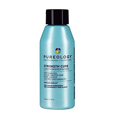 Pureology Strength Cure Strengthening Conditioner   For Damaged, Color Treated Hair   Sulfate-Free   Vegan