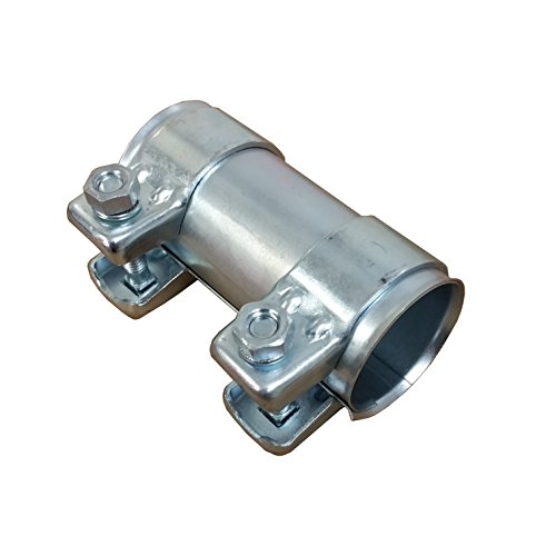 Tubo de escape del conector Diámetro 45Mm x125mm galvanizado universal conector + 2x Abrazadera de escape 48,5