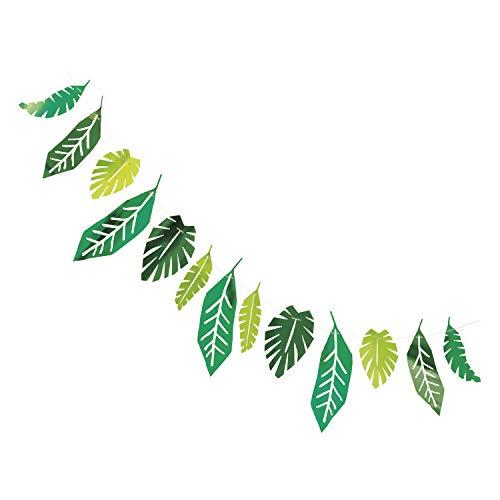 Guirnalda de papel con hojas de afari para fiestas de animales (2,13 m)