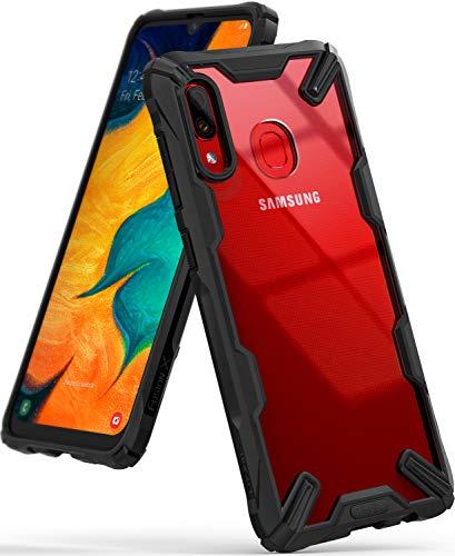 Ringke Fusion-X Custodia Compatibile con Galaxy A30 M10s, [Difesa Militare Testata] Posteriore in PC Bumper in TPU Cover Protezione Paraurti Trasparente Cover Galaxy A30 M10s (2019) - Black Nero