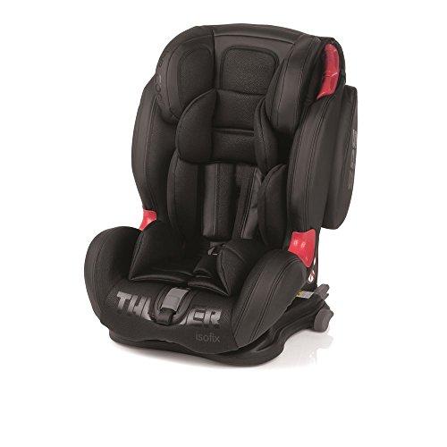 Be Cool Thunder Isofix–Seggiolino da auto per bambini, gruppo 1-2-3 Black Crown Nero