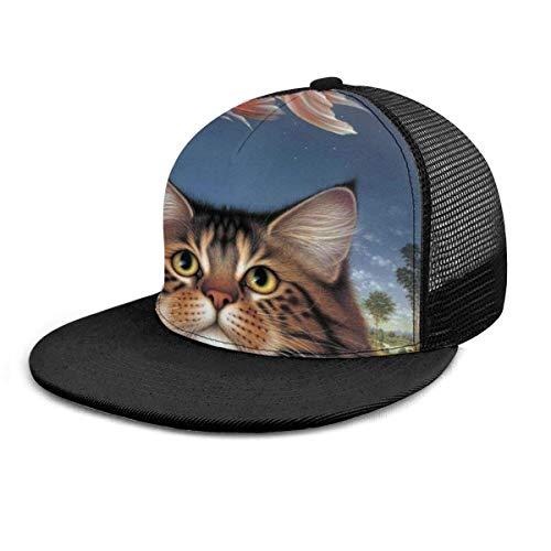 Baseball Cap Wildlife Art Katzenfutter Heute Goldfisch Catatonic Sunset Snapback Flache Rechnung Hip Hop Hüte Trucker Hat für Männer Frauen Schwarz