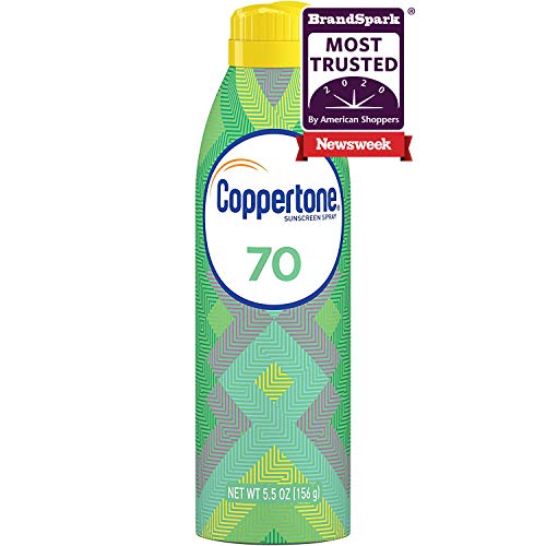 Coppertone ULTRA GUARD Sunscreen Continuous Spray SPF 70 (5.5 Ounce) (Packaging may vary)