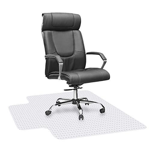 HST - Alfombrilla para silla para suelos alfombrados, ideal para escritorios, oficina y hogar, alfombrilla para silla de oficina para alfombras de pelo bajo y medio, 36 x 48 x 1/8 con labio