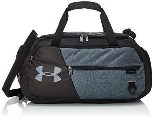Under Armour Undeniable Duffle 4.0 kompakte Sporttasche, wasserabweisende Umhängetasche Unisex, Schwarz (Black/Black Medium Heather/Pitch Gray(001)), S