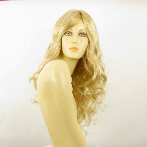 Perücke frau lange lockig golden blond Docht sehr hellblond ref ZARA 24BT613 PERUK