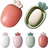 Dan&Dre Seifenschalen, 4 Farbe Seifenschalen Reiseseifenbehälter, mit Deckel Seifenschale...