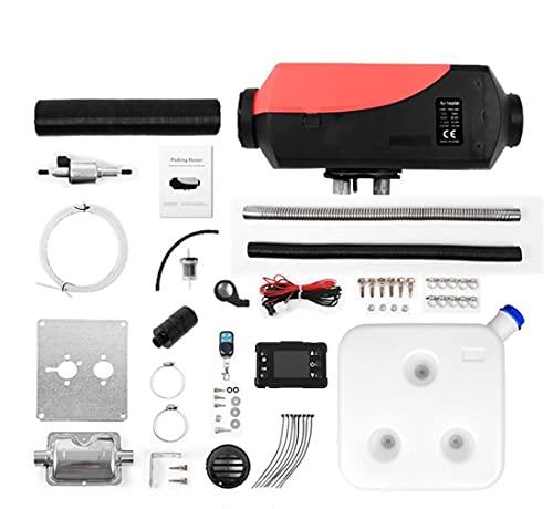 Calentador de automóviles 2/5 / 8kW, Calentador de Calefactor de Diesel de Aire de 24V con Control Remoto Monitor LCD para RV, Motorhome, Camiones, Barcos (Color : H, Size : 2KW)