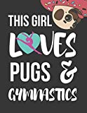 This Girl Loves Pigs & Gymnastics: Novelty Pigs & Gymnastics Gifts ~ Large College Ruled Lined Journal / Notebooks for Girls
