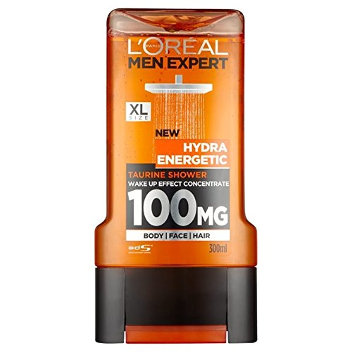 殺人八百屋さん合金ロレアルパリのメンズ専門家ヒドラエネルギッシュなシャワージェル300ミリリットル x4 - L'Oreal Paris Men Expert Hydra Energetic Shower Gel 300ml (Pack of 4) [並行輸入品]