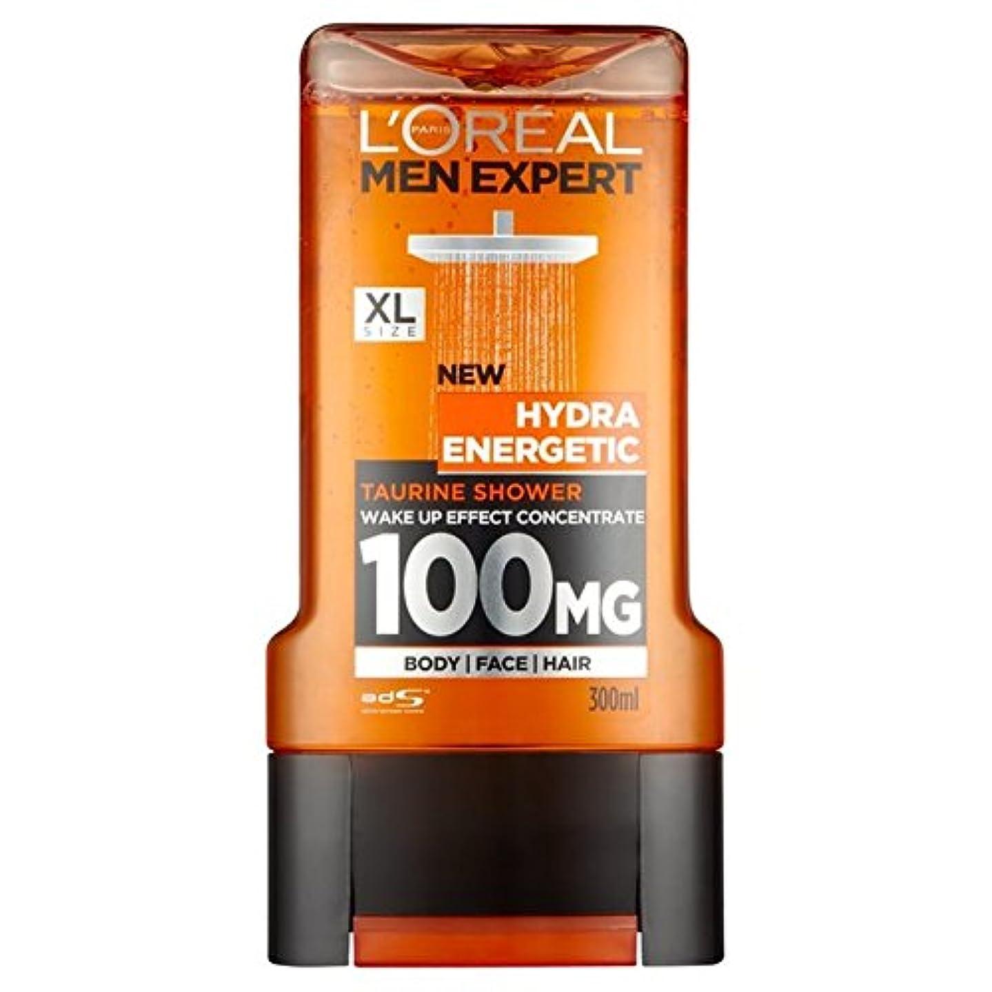 瞳作動するのホストL'Oreal Paris Men Expert Hydra Energetic Shower Gel 300ml (Pack of 6) - ロレアルパリのメンズ専門家ヒドラエネルギッシュなシャワージェル300ミリリットル x6 [並行輸入品]
